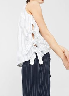 Bow cotton blouse | MANGO
