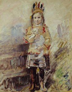Max Slevogt - Nina als Indianer (1913)