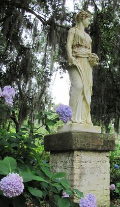statuary - Rosedown Plantation in St. Francisville, Louisiana