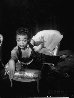 Eartha Kitt, Sitting on Chaise in Scene from New Faces Premium Photographic Print at AllPosters.com