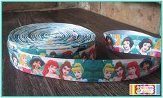 Disney Style Cinderella 1 inch Grosgrain Ribbon Prince Birds Blue