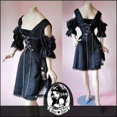 Vintage 1980s Gothic New Romantic Dress - http://www.ebay.co.uk/itm/Vintage-1980s-Gothic-New-Romantic-Pirate-Corset-Rockabilly-Swing-Black-Dress-12-/371541563940