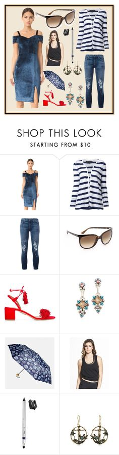 """Polyvorian Style"" by cate-jennifer ❤ liked on Polyvore featuring Yigal AzrouÃ«l, The Elder Statesman, J Brand, Ray-Ban, Aquazzura, DANNIJO, Avenue, Vimmia, Trish McEvoy and Alcozer & J"