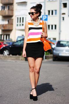 FashionHippieLoves: 29062012 - orange and pink