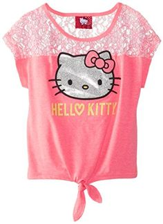 Hello Kitty Big Girls' Front Knot Shirt, Knockout Pink, 8 Hello Kitty http://www.amazon.com/dp/B00PBVS5A0/ref=cm_sw_r_pi_dp_D4aUvb0AM84C6