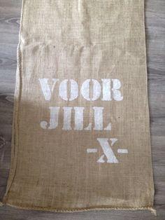 Sinterklaaszak met je eigen naam !! Te bestellen bij www.witenfrizz.nl  €8,50