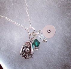 Sporty Girl Softball Hand Stamped Initial Necklace on Etsy, $20.00