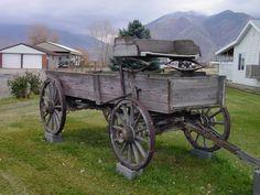 vintage farm wagons | One more old farm wagon.
