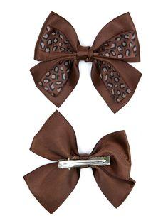 AH0057 Fashion assorted leopard print bow barrette hair clip