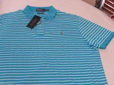 Men's Polo Ralph Lauren short sleeve shirt XXL 4401128 Pima Soft Touch liqd blue #PoloRalphLauren #Polo