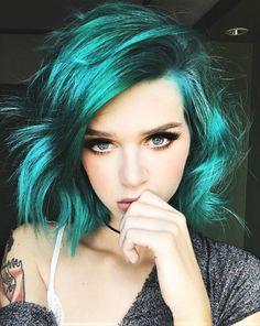 Phantom green and Transylvania messy hair dye by _wildfern - #haircolor #hairdye #hairstyle #greenhair