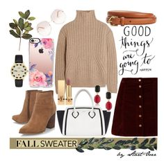 """Fall Sweater"" by start-over ❤ liked on Polyvore featuring Totême, Chloé, Furla, Kate Spade, Nine West, Casetify, 1st & Gorgeous by Carolee and Yves Saint Laurent"