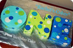 1st Birthday Cake for a boy