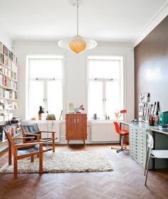 home office living room by decorology, via Flickr