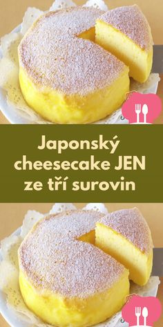 Japonský cheesecake JEN ze trí surovin Cantaloupe Recipes, Czech Recipes, Arabic Food, Sweet Recipes, Cheesecake, Good Food, Food And Drink, Sweets, Bread