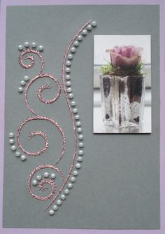 Paper Embroidery, Ova, Stitching, Patterns, Frame, Cards, Costura, Block Prints, Picture Frame