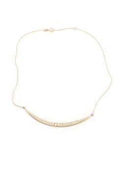 Mizuki Icicle Necklace in 14K Yellow Gold with Diamonds.