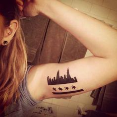 Chicago Flag | 43 Rad Tattoos To Pay Tribute To Your Favorite Place