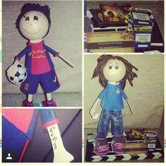 muñeco goma eva barcelona y videoclub