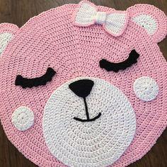 Crochet Rug PATTERN Crochet Bear Nursery Rug by Deborah O'Leary Patterns