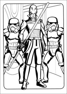 Boba Fett Bounty Hunter coloring picture for kids Star Wars