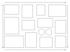 Wall Frame Layout Template | ... frames create a box or rectangle and then fill in with other frames