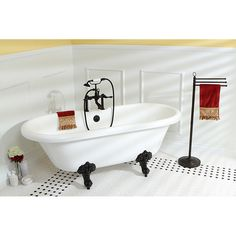 Fashion Plumbing - PVT7DS672924H-7D-PKG Oil Rubbed Bronze series 67 x 29 inch double ended Acrylic Clawfoot tub value packs, $1,349.00 [5% Discount w/ Free Shipping Included] (http://www.fashionplumbing.com/princeton-brass-pvt7ds672924h-7d-pkg-series-67-x-29-inch-double-ended-acrylic-clawfoot-tub-value-packs/)