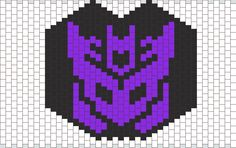 Decepticon Mask Bead Pattern | Peyote Bead Patterns | Misc Bead Patterns