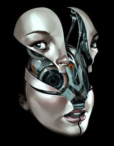 Ravishing Robot Women - Future Face by Billy Nuzez Shows the Mechanical Innards of Gorgeous Ladies (GALLERY)