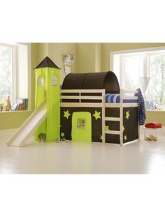 KidspaceGalaxy Midsleeper Bed + Tent, Tower, Tunnel and Slide