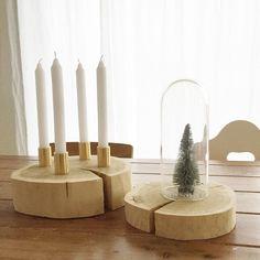 Adventskranz aus Baumscheibe und Hahnverlängerungen | DIY