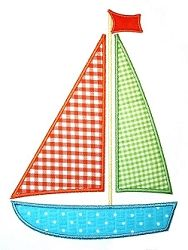 Sailboat Applique - 3 Sizes! | Boats | Machine Embroidery Designs | SWAKembroidery.com Applique Cafe