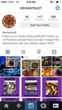 Find us on INSTAGRAM now!!!!  Follow us on Twitter @deviantRUST  Artists featured in our #hashtag_love to #deviantrust on Instagram!!!!