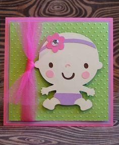 Cuddly Baby Girl Baby Shower Invitation Fushia/ by TresuresbyBella, $2.75