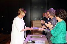 Doña Sofía entrega el Premio en la Categoría de conservación, al paisaje histórico de olivos milenarios del Territorio Sénia Museo Arqueológico Nacional. Madrid, 17.04.2015
