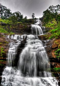Waterfall on the way to Munnar – India