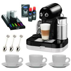 """Nespresso C520 Gran Maestria Titanium Espresso Machine with """"Anchor"""" Coffee Pack Drawer for Nespresso Capsules, 3 sets of 3 oz Ceramic Tiara Espresso Cup and Saucer, 3 pcs 4.5 in. Cup & Saucer Demi Spoon and Espresso Special Decalcifier, 2 x 4.2 fluid ounce Bottles - http://teacoffeestore.com/nespresso-c520-gran-maestria-titanium-espresso-machine-with-anchor-coffee-pack-drawer-for-nespresso-capsules-3-sets-of-3-oz-ceramic-tiara-espresso-cup-and-saucer-3-pcs-4-5-in-cup-sau"""