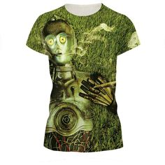 0c5f1e9b6 T shirt women Alice in Wonderland The Tin Man Printing summer stlye cropped  good couple clothes T-shirts women