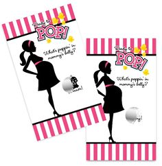 Ready To Pop Dark Pink - Baby Shower Scratch Off Game Pack