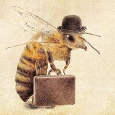 Bees: Worker #Bee   Eric Fan illustrations.