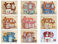 Creative house papercraft models with calendar, free templates 3d Paper, Paper Toys, Christmas Home, Christmas Crafts, Home Crafts, Diy Crafts, House Template, Putz Houses, Doll Houses