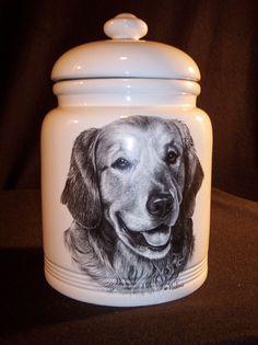GOLDEN RETRIEVER COOKIE DOG JAR CANISTER TREAT BY ROSALINDE VLADIMIR COLLECTOR