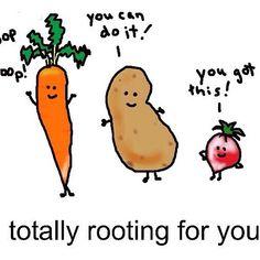 Love these rooting veggies!