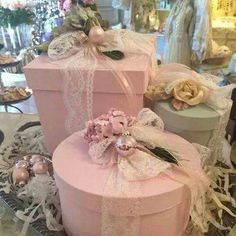 Cute pink boxes