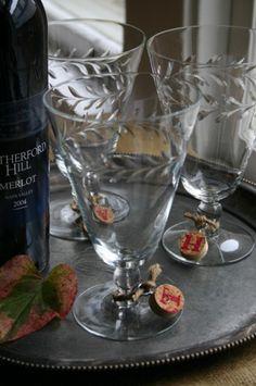 Wine Cork Crafts wine glass markers #MacGrillHalfPricedWine