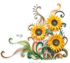 © Cris Tan- Quilled sunflowers pictures (Searched by Châu Khang)