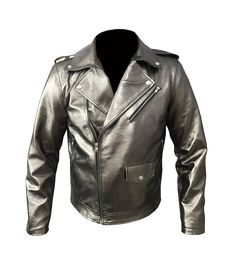 X MEN APOCALYPSE EVAN PETERS QUICK SILVER FAUX LEATHER JACKET HIGH QUALITY: Amazon.co.uk: Clothing