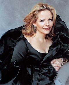 Beautiful soprano Renee Fleming.  Heard her sing live and her gorgeous voice touched me all the way in the balcony.
