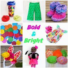 Bold and Bright handmade shopping curated by Handmade kids for the Handmade Cooperative #handmadekids #shophandmade #brightandbold