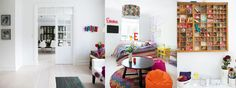 Home of Rikke Juhl Jensen, designer and co-owner of danish label House Doctor House Doctor, Danish, Guest Room, Norway, Color Pop, Banner, Label, Interiors, Colorful